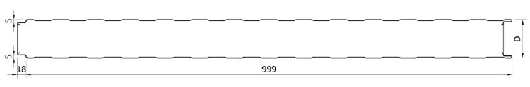 Геометрия на TFACE T сандвич панели